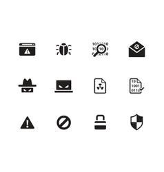 Security icons on white background vector