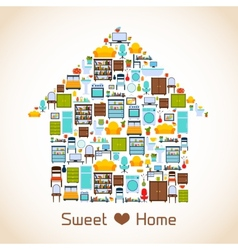 Sweet home concept vector