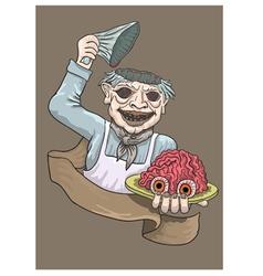 Appetizing fresh brains vector