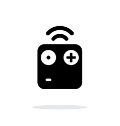 Wireless remote simple icon on white background vector