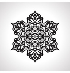 Floral rounded mandeala pattern vector