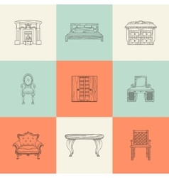 Home furnishings vector