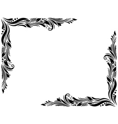 Decorative border style 1 large vector