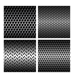 Seamless texture metal grids background vector