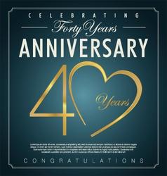 40 years anniversary background vector