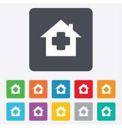 Medical hospital sign icon home medicine symbol vector