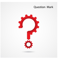 Gear question mark on background vector