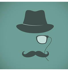 Funny vintage hipster trendy monocle poster vector