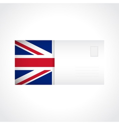 Envelope with british flag card vector