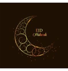 Moon background for muslim community festival vector