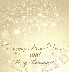 New year greeting card congratulations on vector