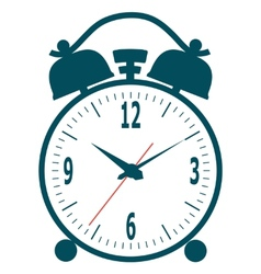Wall mounted digital clock vector