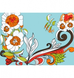 Colorful flowers vector