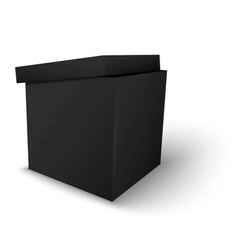 Black package box vector