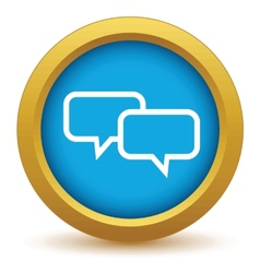Gold conversation icon vector