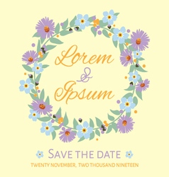 Save the date template invitation card vector