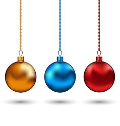 Christmas colorful balls isolated on white vector