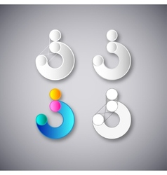 Abstract combination of letter s vector