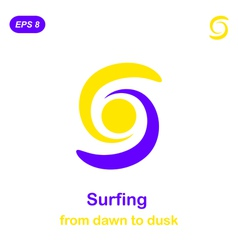 Surfing conception icon vector