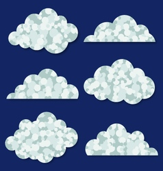 Abstract clouds collection vector