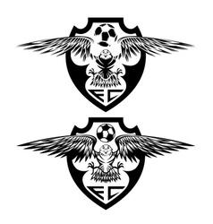 Football team crests set with eagles design vector