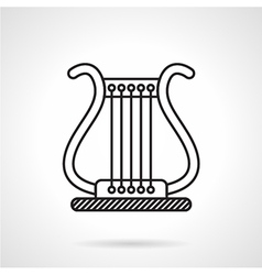 Lyre black line icon vector