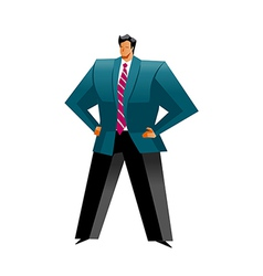 Close-up of man standing vector