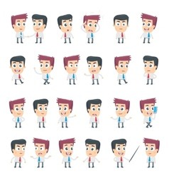 Dialog poses of two business characters vector