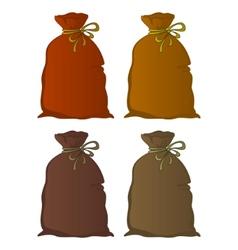 Bag linen set vector