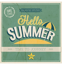 Text hello summer vector