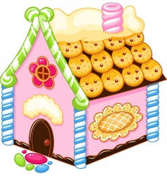 Gingerbread house vector