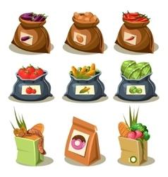 Natural food is very good organic vegetables vector