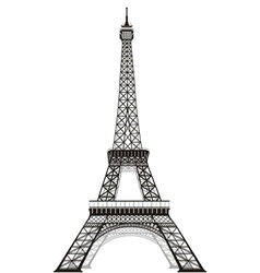Silhouette of eiffel tower vector