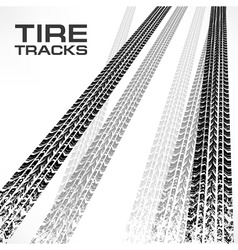 Tire tracks on white  text vector