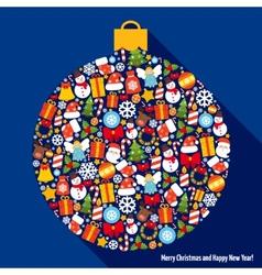 Christmas decoration ball vector