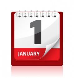 Calendar icon | red vector
