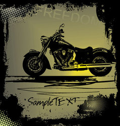 Grunge motorbike background vector