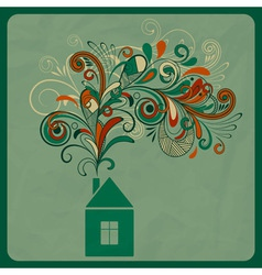 Ecology concept with small house vector