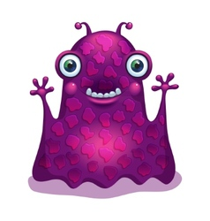 Bright funny monster alien graphic character vector