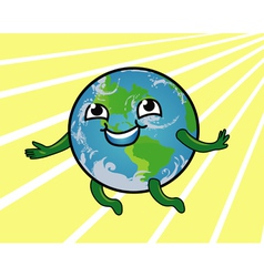 Earth smiling vector