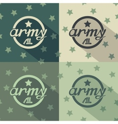 Army seamless signs print vector