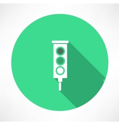 Green traffic lights icon vector