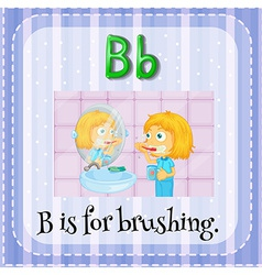 A letter b vector