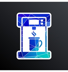 Coffee maker monochrome icon electric cafe kitchen vector