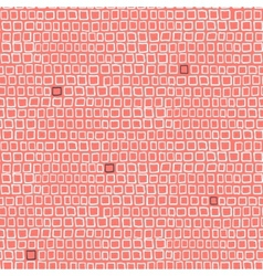Geometric pattern with small hand drawn squares vector