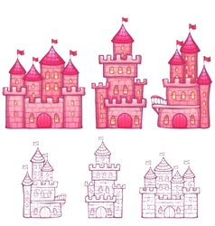 Cartoon fairy tale castle vector