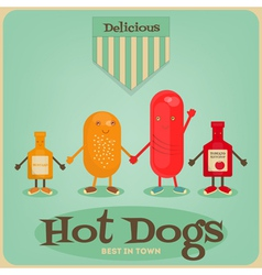 Hot dogs vector