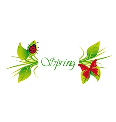 Spring and summer background vector