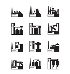 Industrial construction set vector