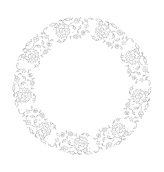 Floral vignette for your design vector